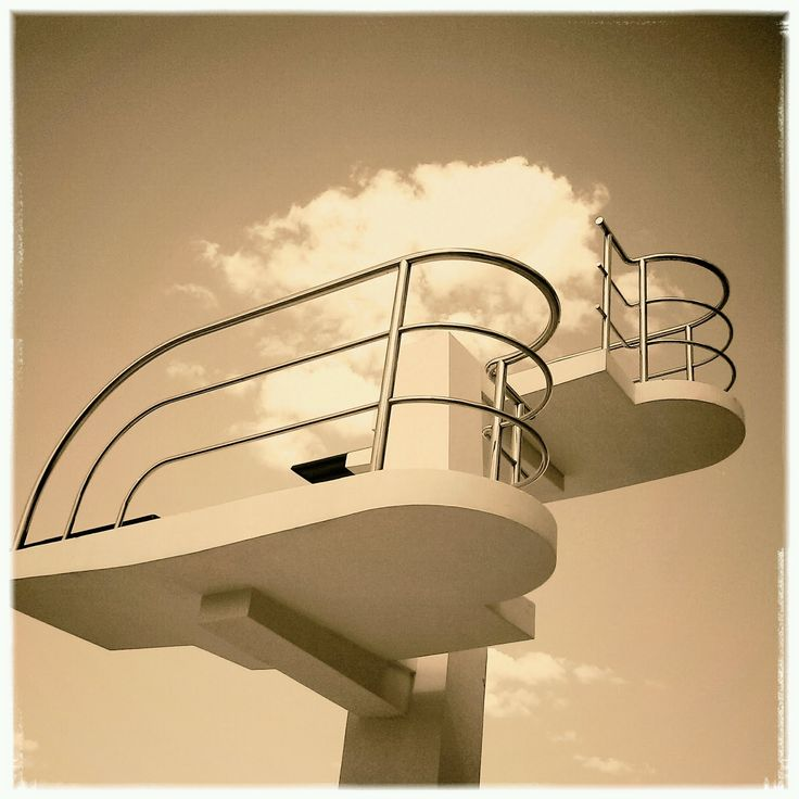 Art Deco diving board, Valencia. Photo: Sean J Vincent