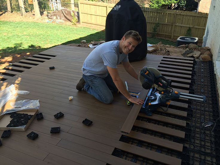 How To Lay Deck Flooring On A Concrete Patio Taras