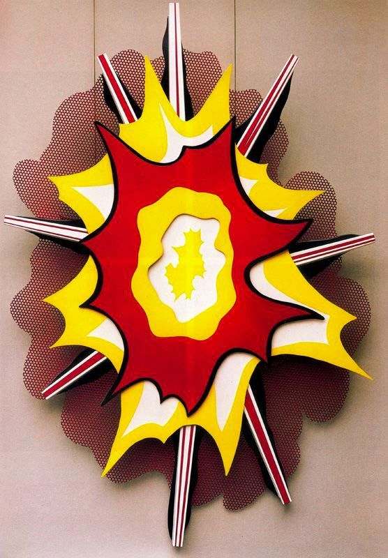 Explosión nº1 de Roy Lichtensteinse1965. Metal pintado. 251 x 160 cm. Museum Ludwig. Colonia. Alemania