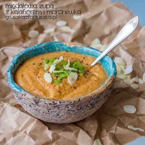 migdałowa zupa z kalafiorem i marchewką - gruszka z fartuszka