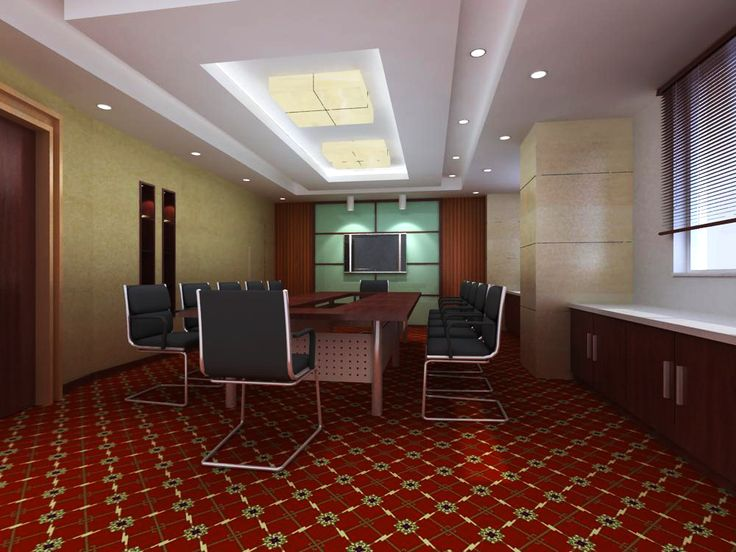Conference Room 057 3D Model Detailed Sence Created With VRay And Need This Renderer To Work Correctly Materials Used Te