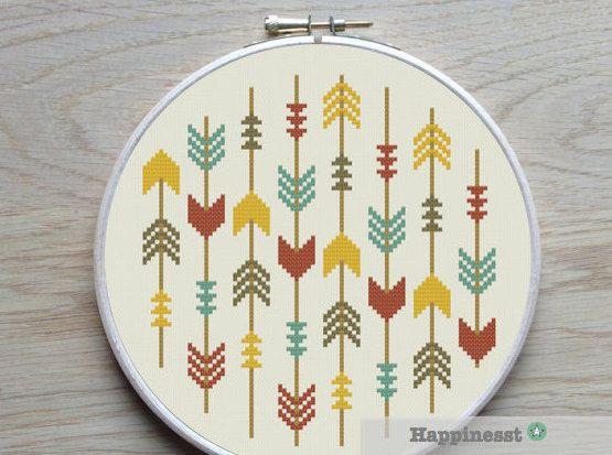 cross stitch pattern arrows arrows aztec PDF pattern