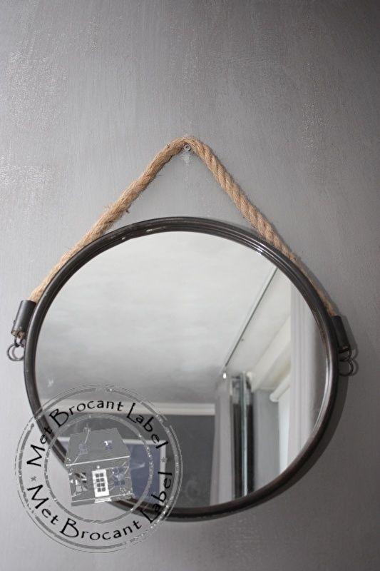 Spiegel met touw robuust