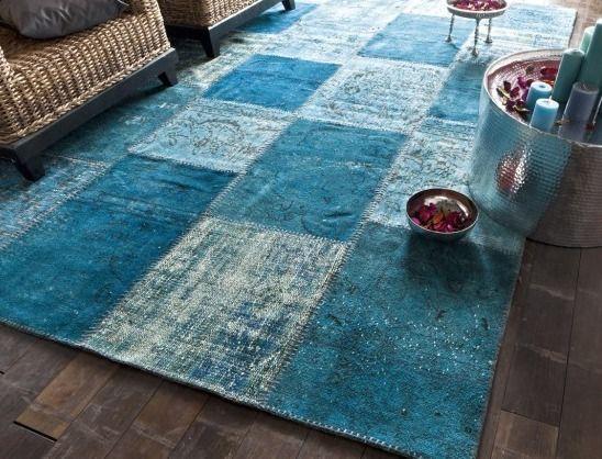 Tapis Bleu Tapis Bleu Patchwork Saint Maclou Exercice De Style