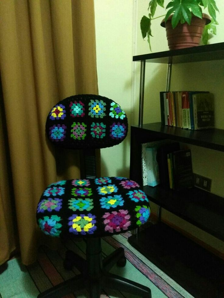 Silla de escritorio granny square