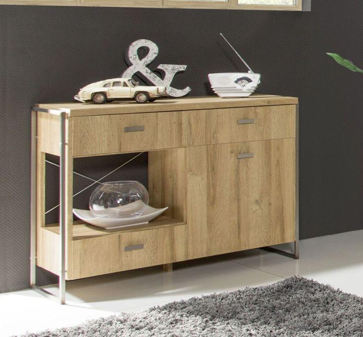 Sideboard Balkeneiche Mit Metallgestell Woody 16 00802 Braun Holz Modern Jetzt Bestellen Unter