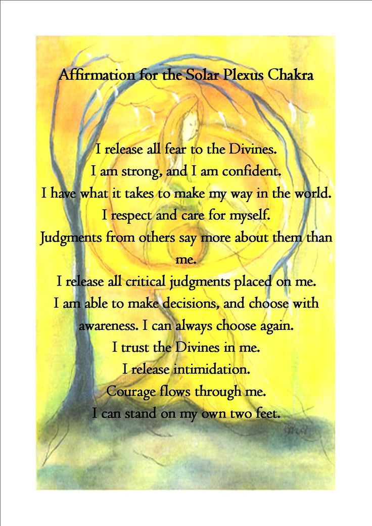 The Solar Plexus Chakra Affirmation: Pics and words were found online, only then…
