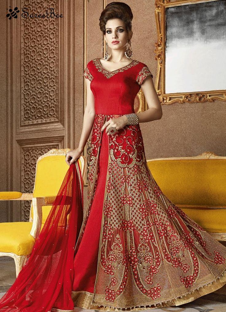 Snazzy Zari Work Red Long Choli Lehenga  For More Information WhatsApp 7202080091 Or Visit www.SareeBe.com #red #designer #kurti #fashionista #makeup #UK #outfitoftheday #women-fashion #model #indian #saree #ramadanmubarak #ethnic #picoftheday #cool #summer-style #streetstyle #beauty #styles #rakshabandhan #rakshabandhangift