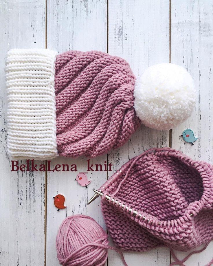 """154 Likes, 1 Comments - ВЯЗАНЫЕ ШАПКИСНУДЫ (@belkalena_knit) on Instagram: """"Эти тепленькие красавицы согреют вас холодной осенью и зимой ! Мягкие и пушистые ! Прекрасно…"""""""