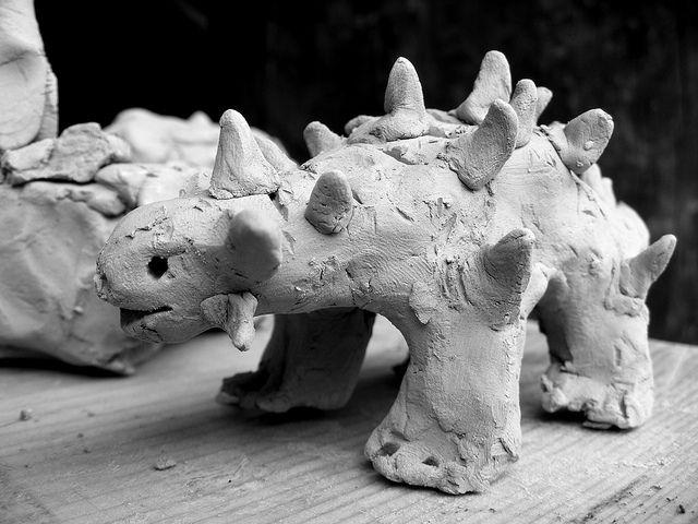 clay dinosaur