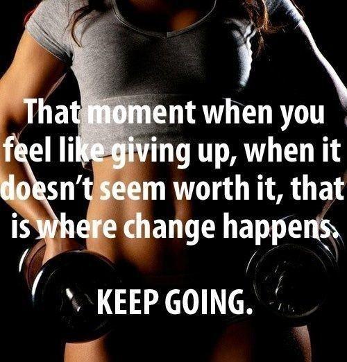 Keep going. #fitness #motivation