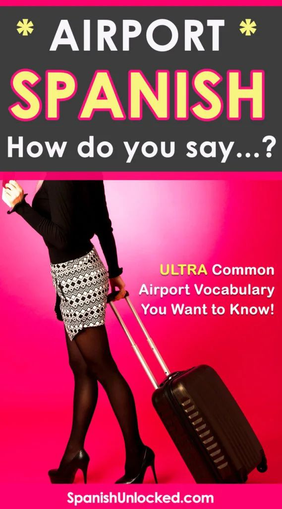 How do you say AIRPORT in Spanish? | Learning spanish, How ...