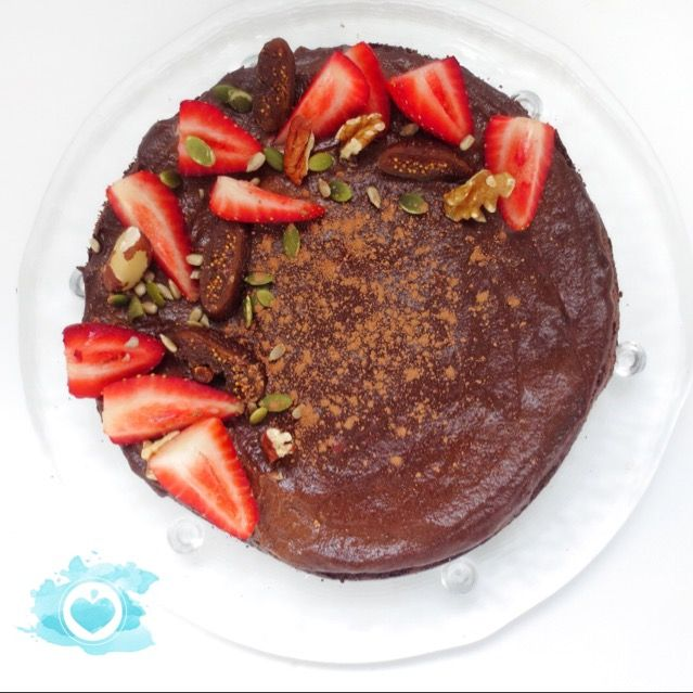 Beautiful vegan chocolate quinoa cake. http://madewholeco.com/portfolio/