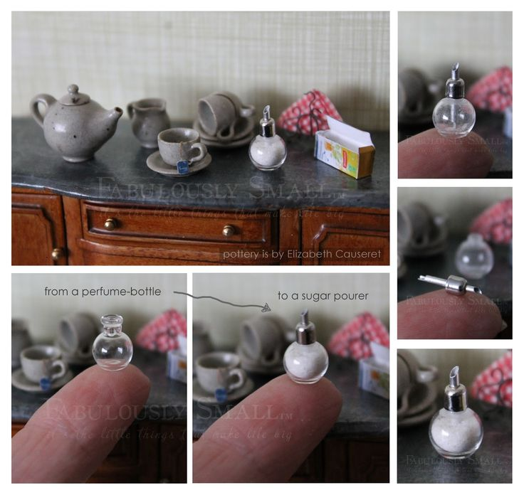 1:12 scale working sugar pourer I made (http://fabulouslysmall.blogspot.nl/2016/02/sugarsweet.html)