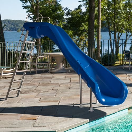 Best 25 pool slides ideas on pinterest swimming pool for Swimming pool designs with slides