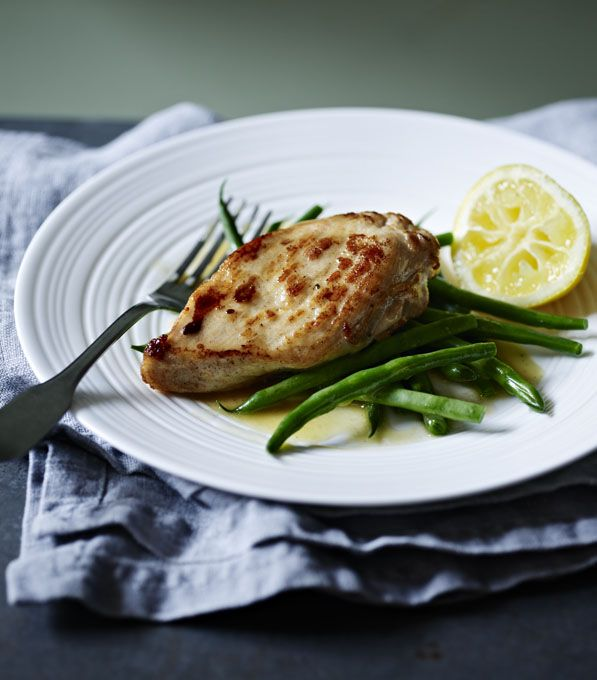 Whip up a lemon butter sauce in next to no time to make something special of fried chicken breasts.