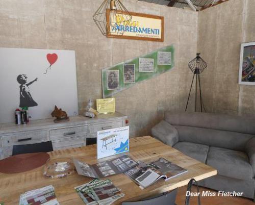 La straordinaria foto del nostro spazio espositivo a tema #StreetArt a #ExpoValTrebbia 2016, scattata dalla nostra amica e blogger e pubblicata su Dear Miss Fletcher