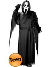 Teen Boys Ghost Face Scream Costume - Party City