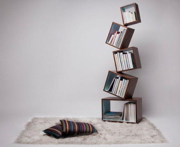 Bibliothèque en équilibre par Malagana Design - Journal du Design