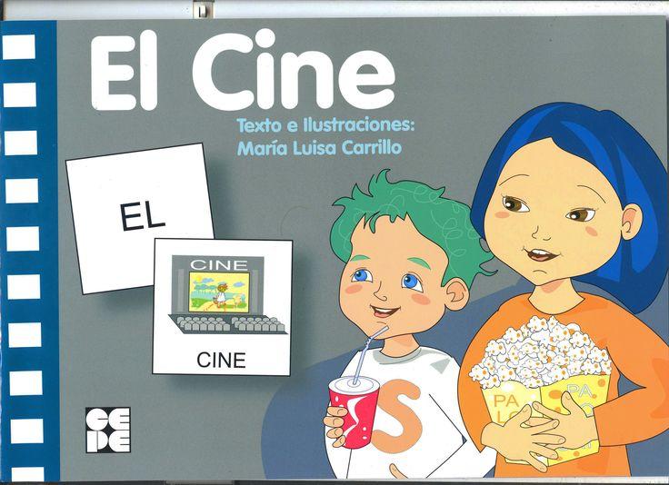 Hoy vamos al cine. L@s niñ@s están encantados. Cuento para trabajar vocabulario y lecto-escritura, a través de pictogramas.