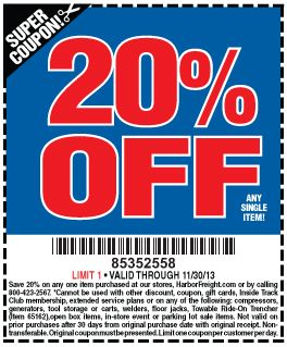 20 Off Harbor Freight Coupon 2018 Six 02 Coupons