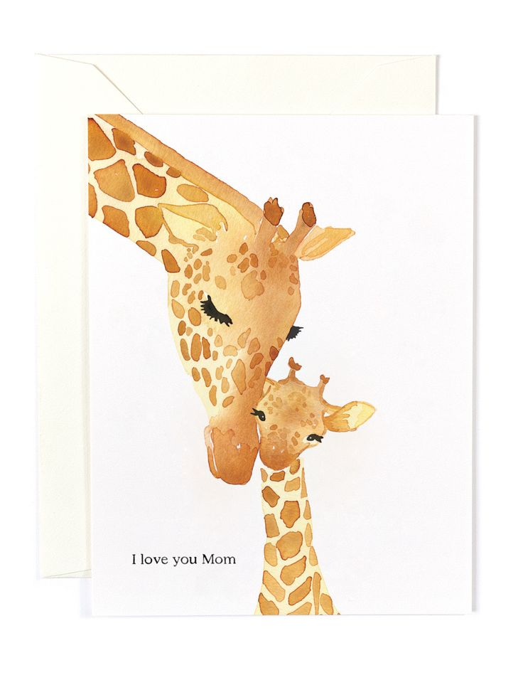 Mother's Day Giraffes Card