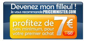 7€ de parrainage chez priceminister