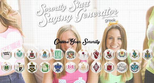 ★☆ super sorority sayings BY CHAPTER for tee shirts & crafts! ★☆ | sorority sugar