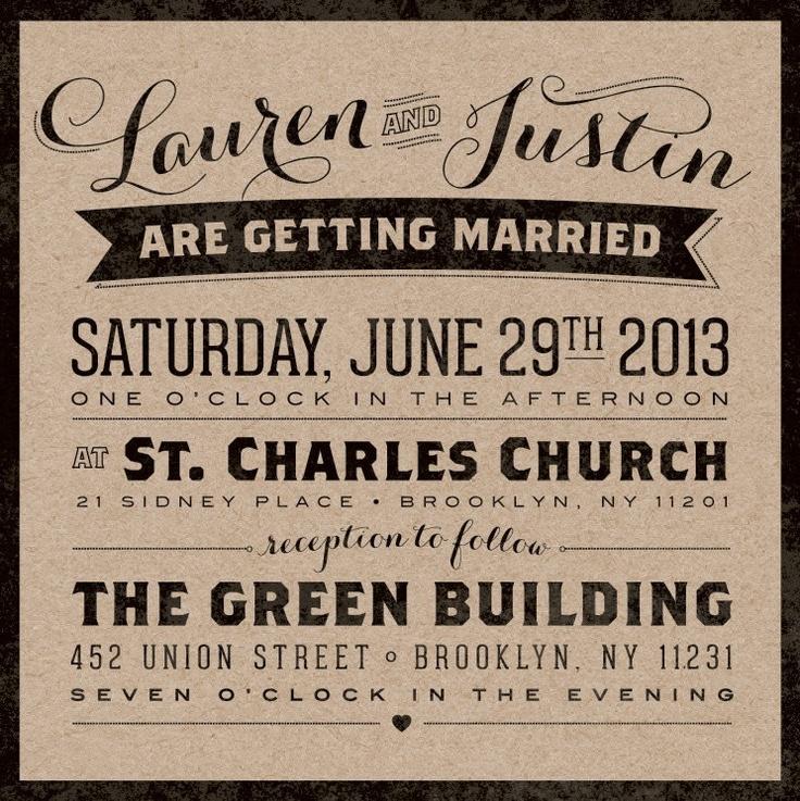 confetti daydreams wedding invitations%0A Vintage Urban Kraft Wedding Invitation Suite  August Park Creative