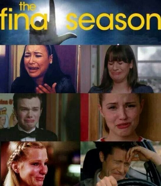 Glee. Sums up how I feel about this being the final season...