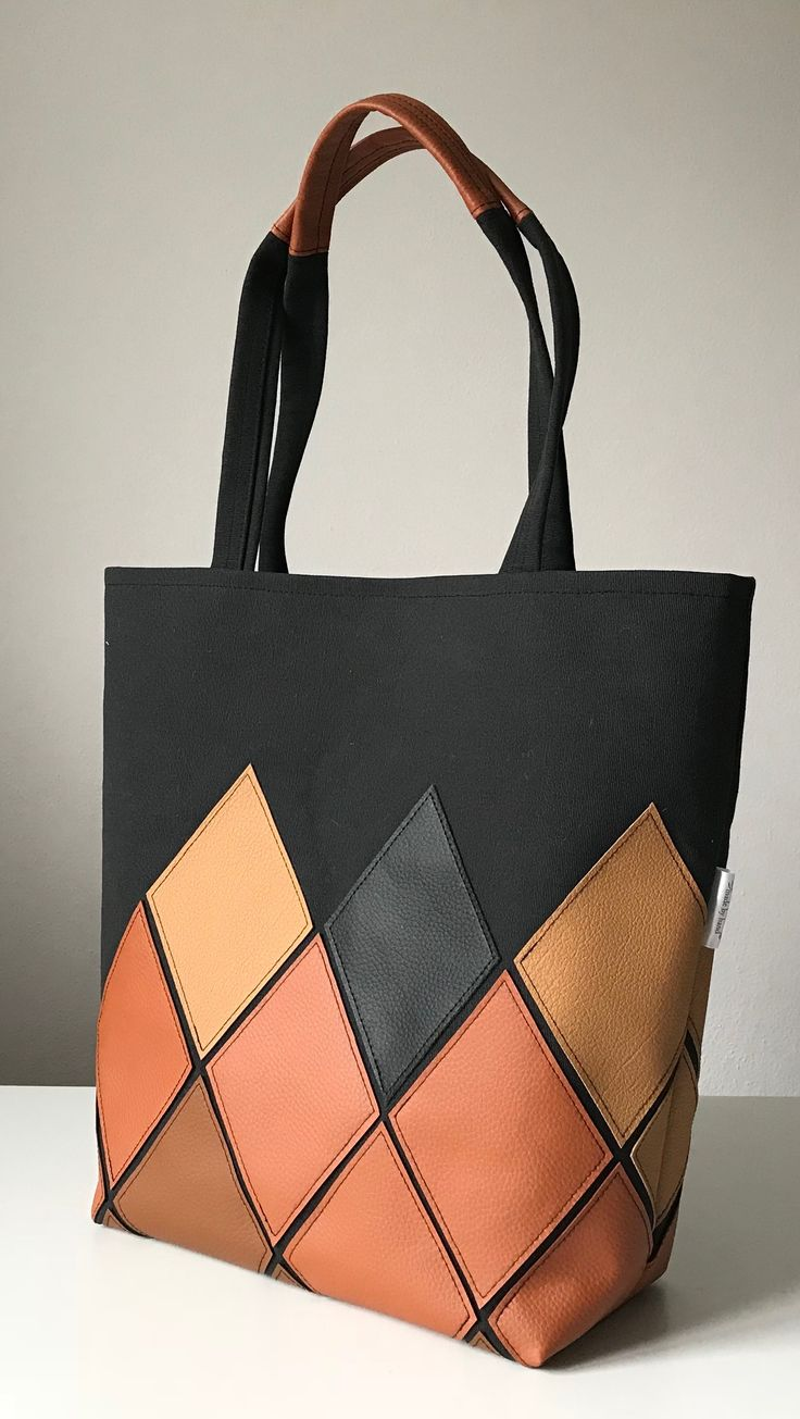 My work! Shoulderbag, brown, black