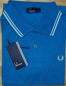 New Men's Original M1200 Fred Perry Blue Polo Shirt Classic & Stylish Fred Perry Polo shirts 5 Sizes 5 colors amazing price for designer timeless mens wear worldwide postage ebay shop aojwholesale