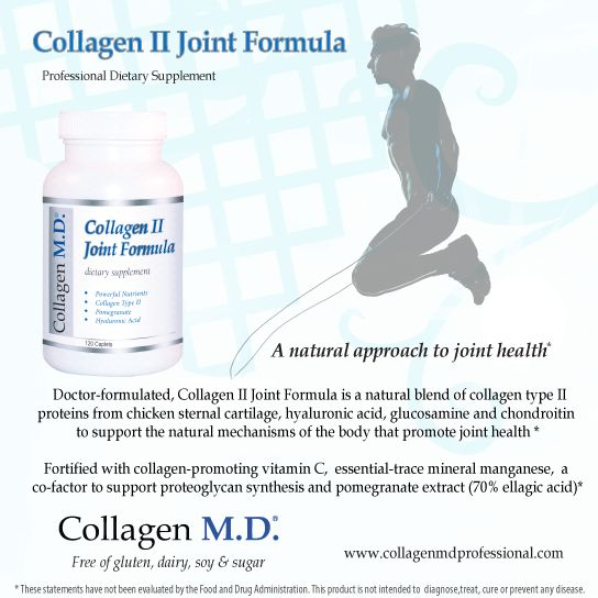 In the body, hyaline cartilage is the most common type of cartilage that's a compressed type of connective tissue with supple and slightly elastic properties.* Professional-strength Collagen II Joint Formula by Collagen M.D.® is a dietary supplement with 18 amino acids and Hyaluronic Acid helps support the natural mechanisms that promote cartilage and joint health.* Made in California under strict cGMP guidelines and free of gluten, dairy, sugar & soy. #CollagenMD #JointHealth #NMD #Fitness