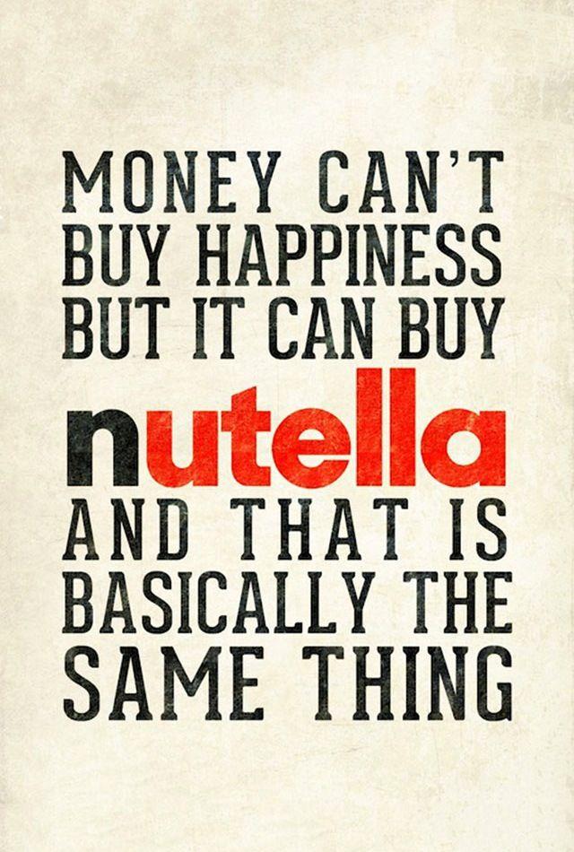 Nutella! :) ESHA OMG THIS IS US