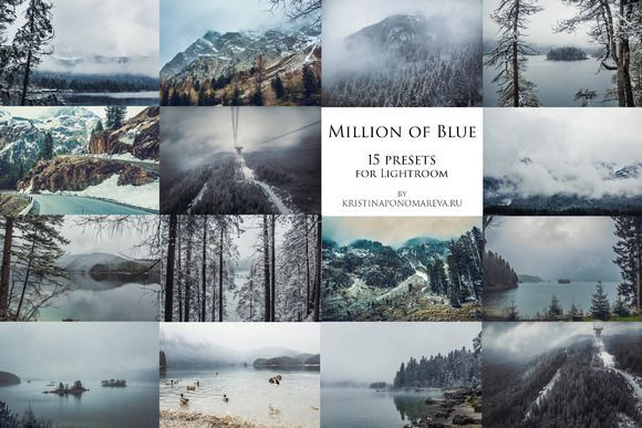 cool Million of Blue- 15 presets for Lr  CreativeWork247 - Fonts, Graphics,...