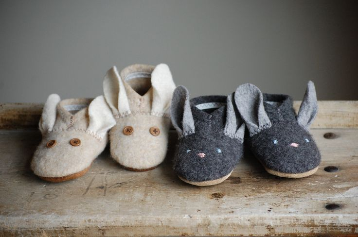 Bunny slippers sewing pattern.