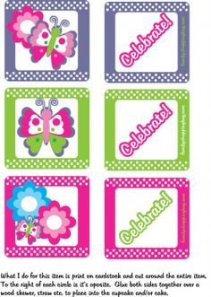 Butterfly Cupcake Topper Party Decorations
