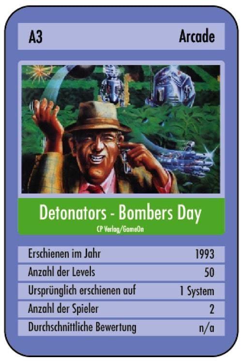 Detonators für den C64 - ein Spiel, welches nur auf einer GameOn Disk enthalten war. Viele dürften deshalb nie in den Genuss dieses Spiels gekommen sein.