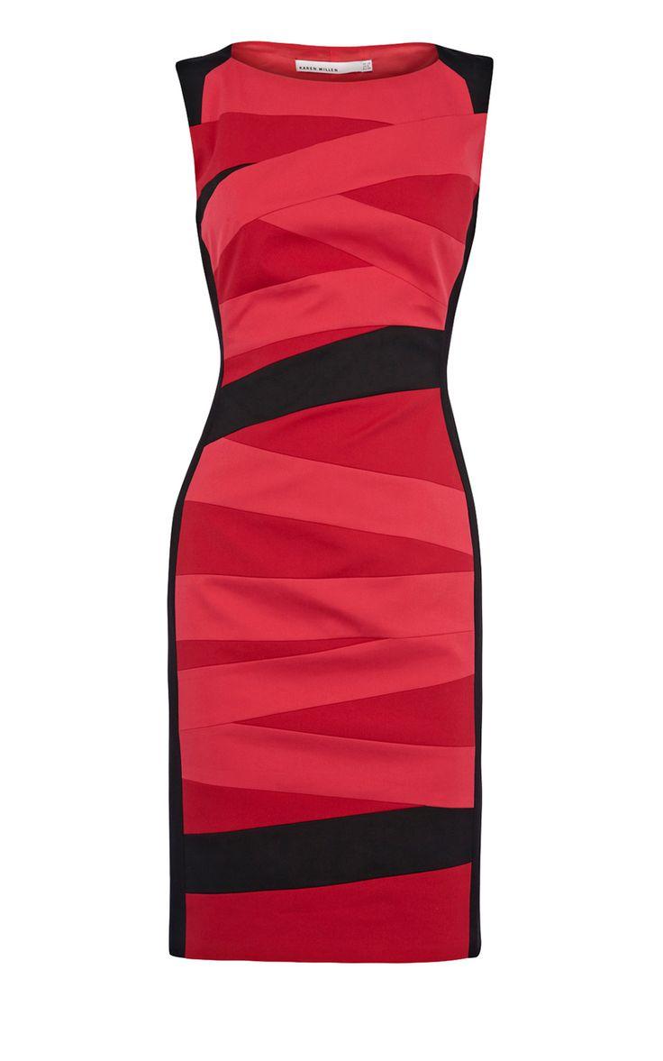 Karen Millen Colourblock pencil dress - suit-dresses.com - $90.15