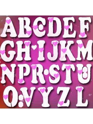 A'dan Z'ye Harf Köpük Simli Pembe (9,5 cm)
