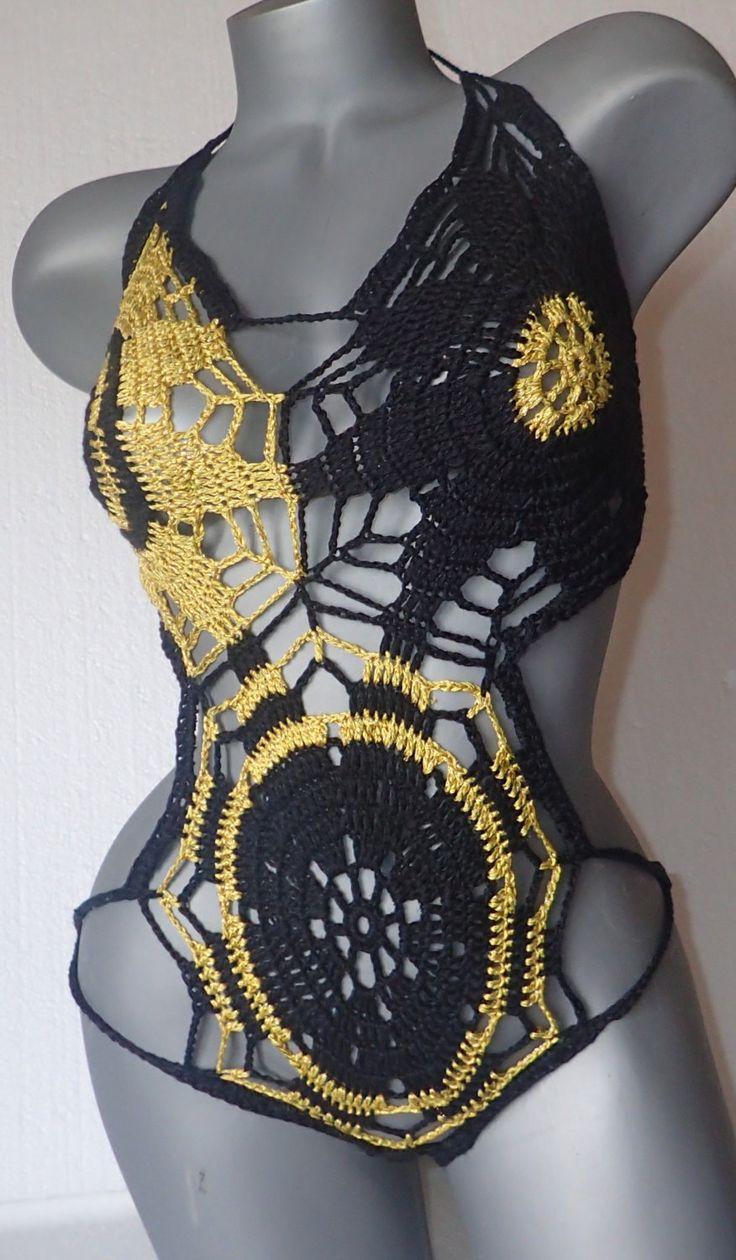 Best 25 crochet monokini ideas on pinterest crochet bikini top black yellow crochet monokiniswimwear for womentton bodyxy lingerie bankloansurffo Images