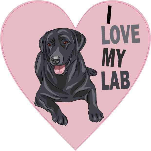 "20/"" Labrador Retriever Waterproof Vinyl Car Sticker Scratched Shelter"