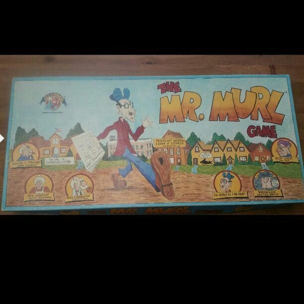 THE MR MURL VINTAGE BOARD GAME 1984  Please see picsbox has wear    B13