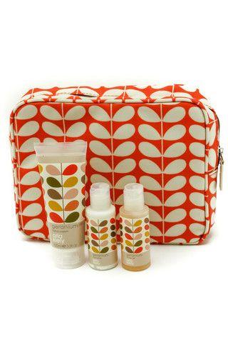 Orla Kiely Wash Bag Gift Set
