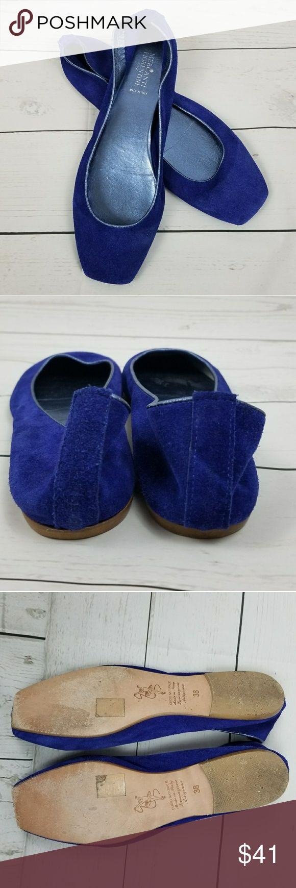 Mercanti Fiorentini Royal Blue Ballet Size 38 Mercanti Fiorentini Royal Blue Ballet Size 38 Has some light wear on top and on soles Mercanti Fiorentini Shoes Flats & Loafers