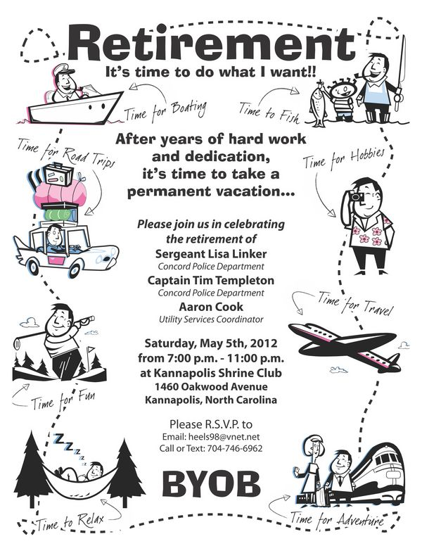 retirement party flyer on behance parties pinte