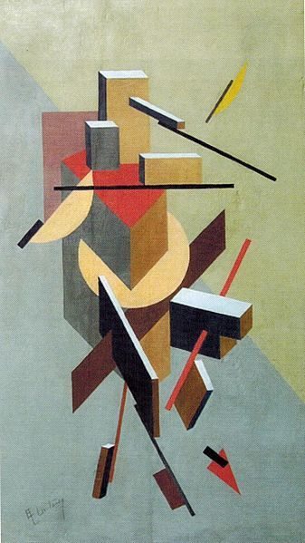 El Lissitzky / Proun. Oil on wood. 74,2 x49, 5. Private collection Leonid Sachs, United States