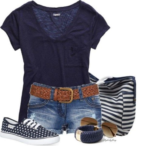 150 pretty casual shorts summer outfit combinations (134)