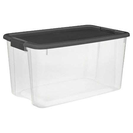 www.target.com p sterilite-ultra-70-qt-clear-storage-tote-with-gray-lid - A-14757118