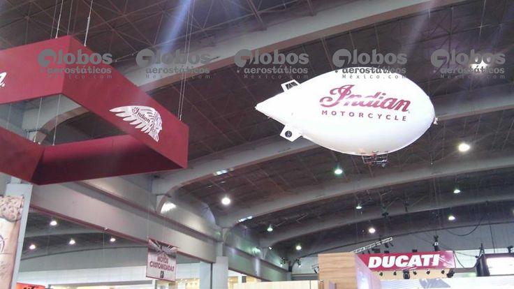 dirigible publicitario de control remoto para volar en interiores